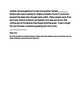 5 PARAGRAPH ESSAY ON THE FRONTIER HOMESTEADERS