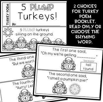 Turkey Poem Literacy Pack