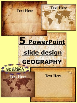 Maps - Vintage PowerPoint slide design - Editable Template