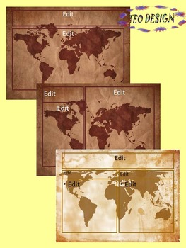 Maps Vintage PowerPoint slide design Editable Template
