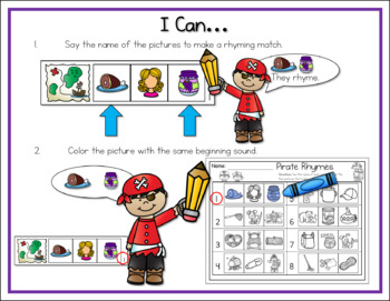 5 Pack Literacy Centers: Pirates!