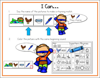 5 Pack Literacy Centers: Superhero Students