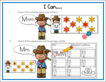5 Pack Literacy Centers: Western Kids