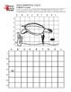 5 Pack Sea Creatures Grid Drawing Worksheet for Middle/High Grades