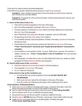 5-Paragrah Essay Presentation-Guided Notes