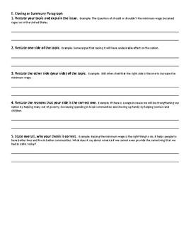 5 Paragraph Argumentative Essay/Outline