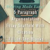 5 Paragraph Argumentative Essay Scaffold With Citation Fil