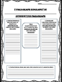 5 Paragraph Biography Outline w. Rubric - Easy, Guided Int