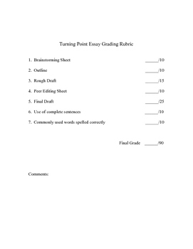 5 Paragraph Essay - A Turning Point in Life