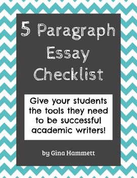 5 Paragraph Essay: Checklist