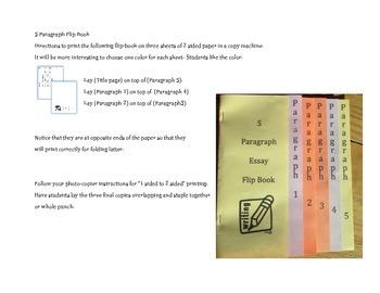 5 Paragraph Essay Flip Book