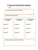 5 Paragraph Essay Graphic Organizer Outline With Directions and Supports