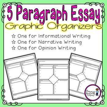 5 Paragraph Essay Graphic Organizers