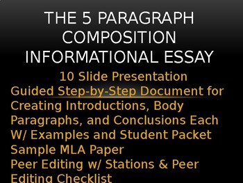 5 Paragraph Essay Guided Lessons w/ Samples