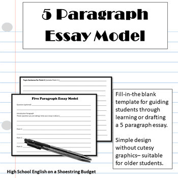 5 Paragraph Essay Model