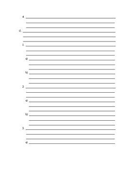 paragraph essay outline by randi feltz teachers pay teachers 5 paragraph essay outline