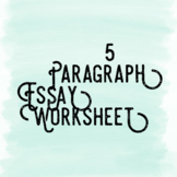 5 Paragraph Essay Worksheet