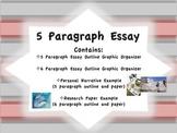 5 Paragraph Essay Outline Graphic Organizer