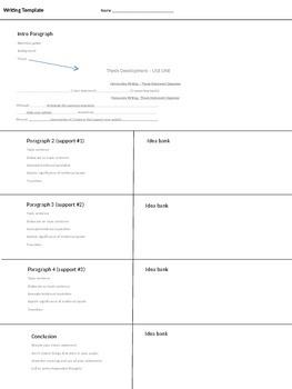 5 Paragraph Essay / Paragraph Outline