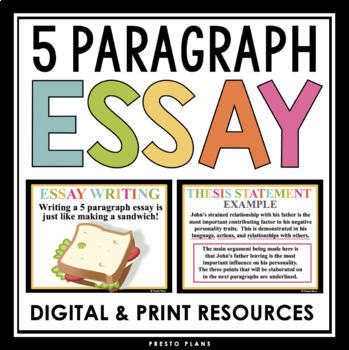 A Modest Proposal Ideas For Essays  Paragraph Essay Presentation  Essay Outline Thesis Statements Examples For Argumentative Essays also Essay With Thesis Statement Example  Paragraph Essay Presentation  Essay Outline By Presto Plans  Tpt Examples Of Thesis Statements For Narrative Essays