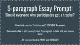 5-Paragraph Essay Prompt- Participation Trophies - Article