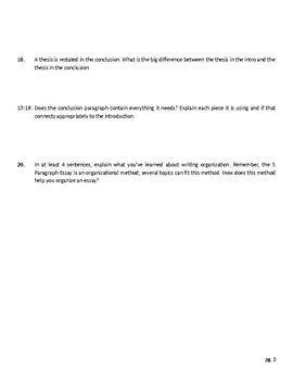 5 Paragraph Essay Teaching Unit