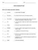 Parts of a 5 Paragraph Essay Terms Quiz
