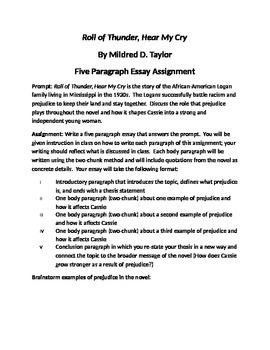 Research Paper Essay Example  Paragraph Essay Tutorial For Roll Of Thunder Hear My Cry Examples Of Thesis Statements For English Essays also Proposal Essay Outline  Paragraph Essay Tutorial For Roll Of Thunder Hear My Cry By  Examples Of Good Essays In English