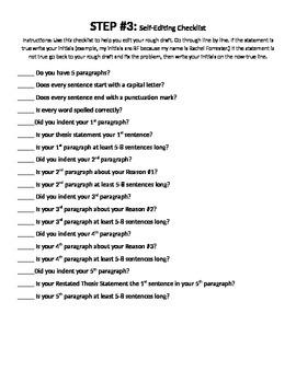 5 Paragraph Essay Unit Packet