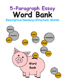5 Paragraph Essay Word Bank of Descriptive and Sensory Words