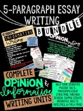 5-Paragraph Essay Writing Bundle: Informative & Opinion Units