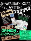 5-Paragraph Essay Writing Bundle: Informative & Opinion Units