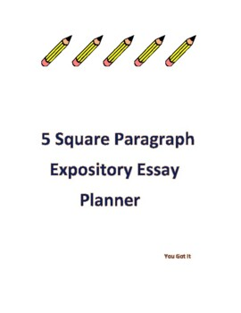 5 Paragraph Expository Planner