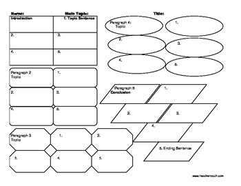 5 Paragraph Graphic Organizer