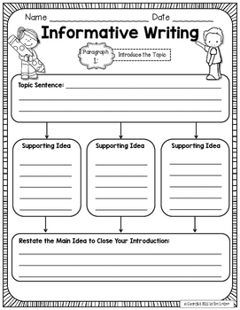 Graphic organizers for writing essays