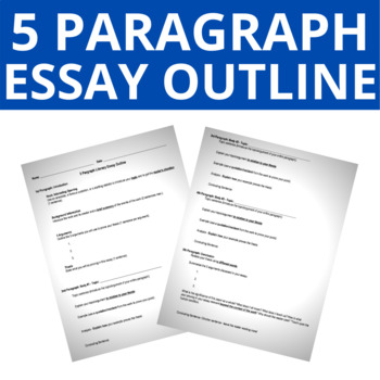 literary essay outline teaching resources  teachers pay teachers  paragraph literary essay outline  paragraph literary essay outline