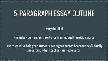 5-Paragraph Argumentative Essay Outline