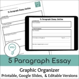 5 paragraph Essay Graphic Organizer