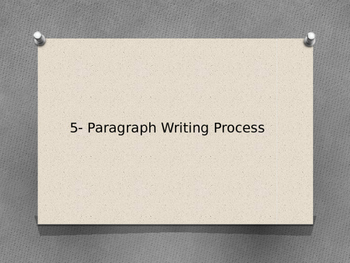5-Paragraph Writing Process