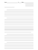 5 Paragraph Writing Template