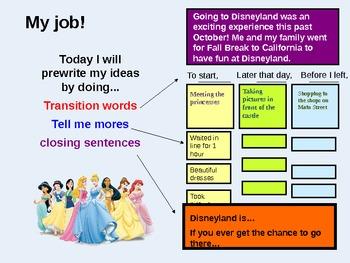 5 Paragraph Writing Using Graphic Organizers - Trip to Disneyland