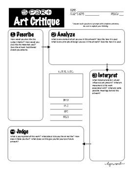 5-Part Art Critique