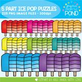 5 Part Popsicle Puzzle Clipart Set