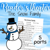 """5 Part Reader's Theater Play: Winter themed! """"The Snow Family"""""""