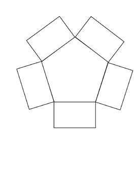 5 Petal (Pentagonal) Blank Graphic Organizer