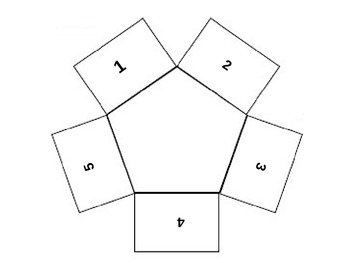 5 Petal and 4 corner Foldable Template