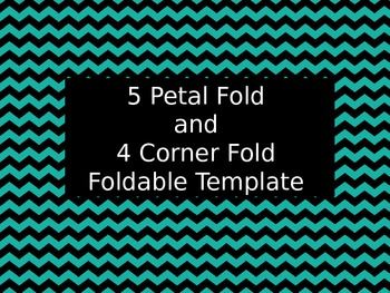 5 Petal and 4 corner Foldable Template