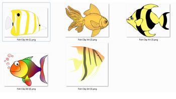 5 Pictures of Fish Clip Art PNG. Files