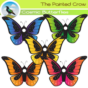 Colorful Butterfly Clip Art - Bug Clip Art - Insects