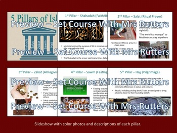 5 Pillars -Learning About Islam: slideshow; interactive lecture; primary sources